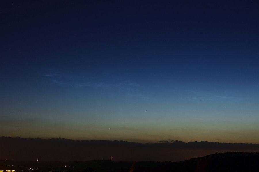 Nachtleuchtende Wolken am 22.06. über Vaals